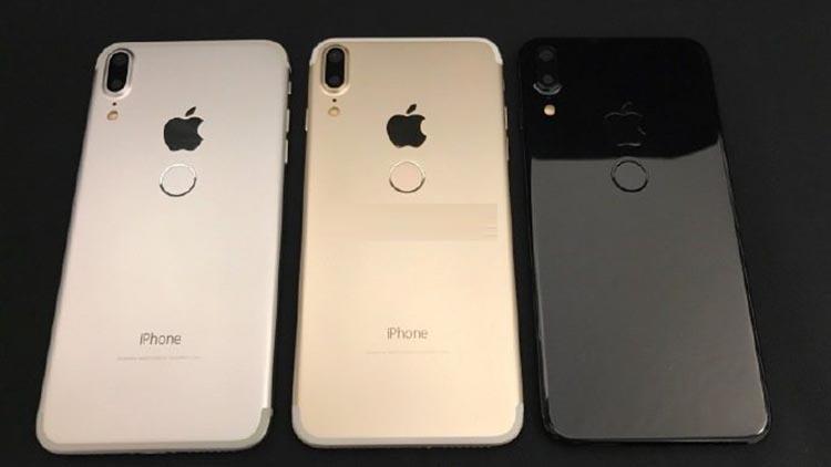 Nuove immagini iPhone 8: lettore di impronte posteriore e tre colori