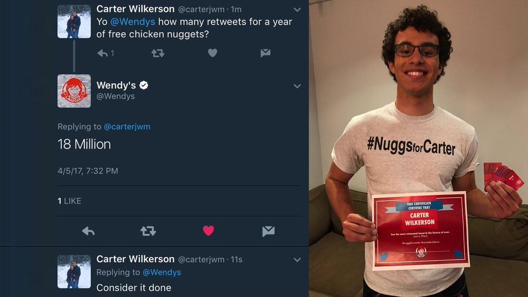 Il tweet più condiviso di sempre? È di un diciottenne che cerca pollo