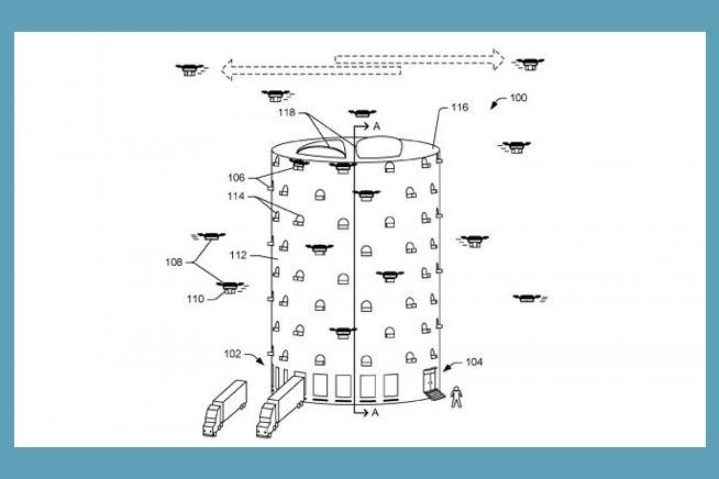 Brevetto Amazon magazzino droni