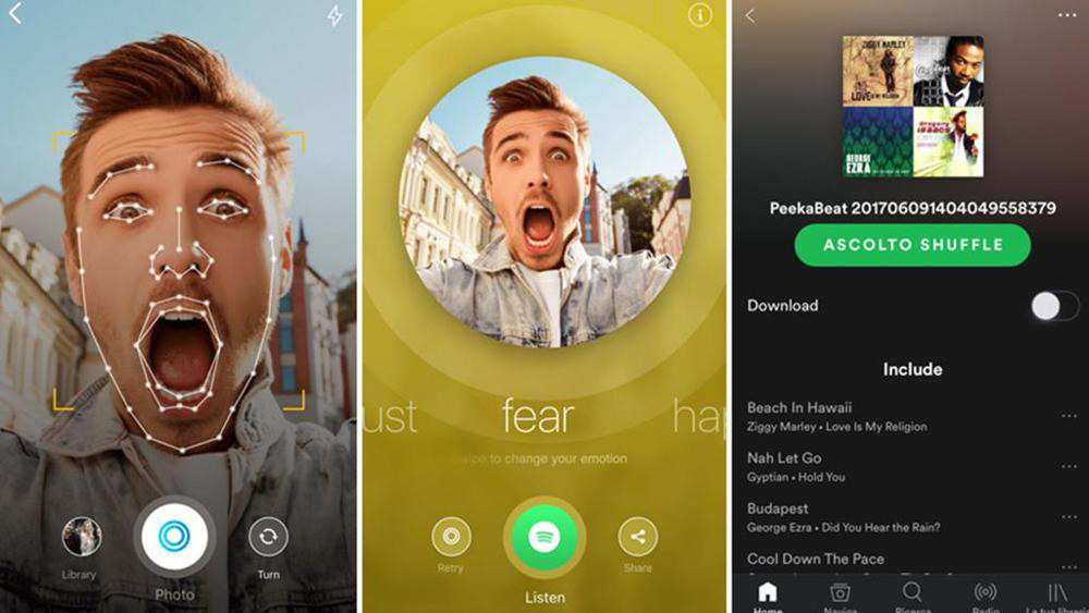 Peekbeat, l'app che crea playlist Spotify a seconda del tuo umore