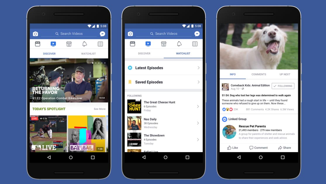 Facebook Watch, arriva la piattaforma per il video streaming