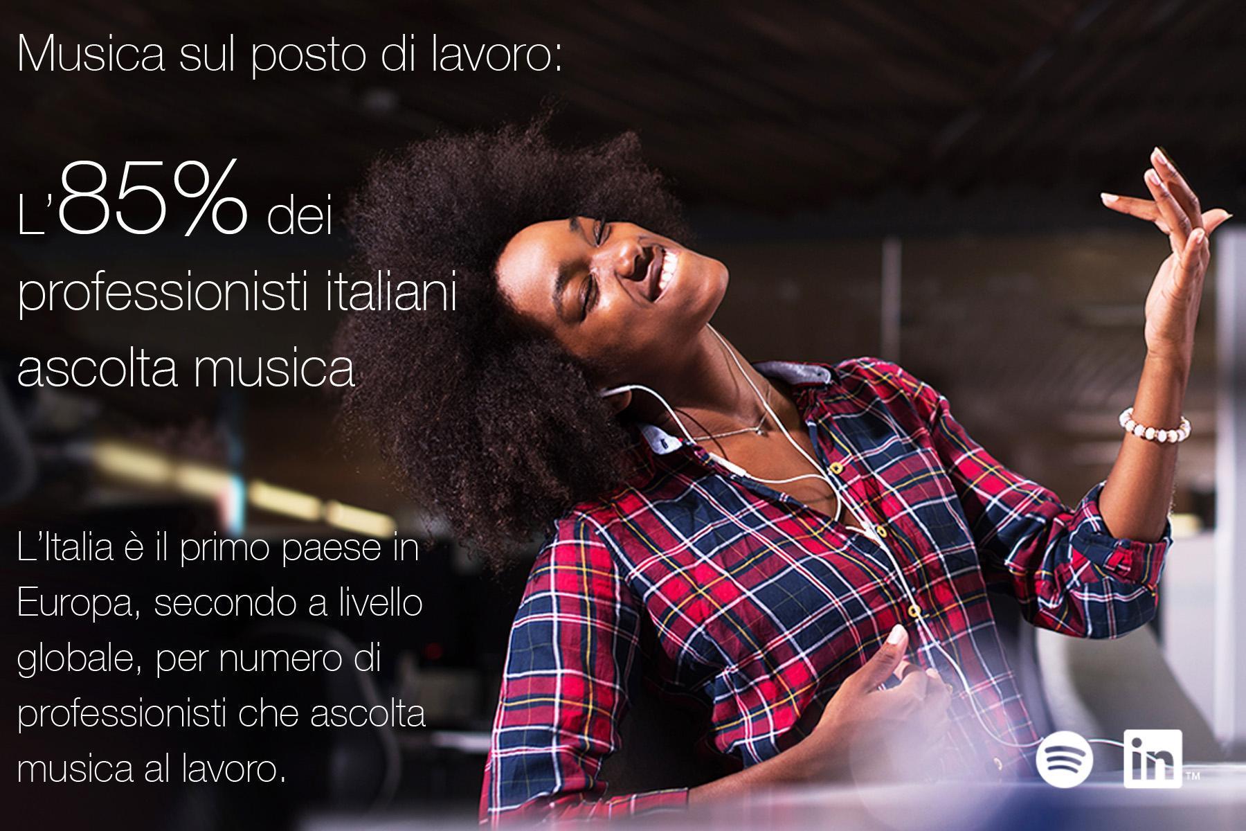 Italia si ascolta musica in ufficio