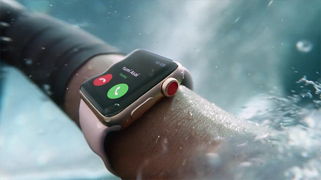Apple Watch 3 sott'acqua