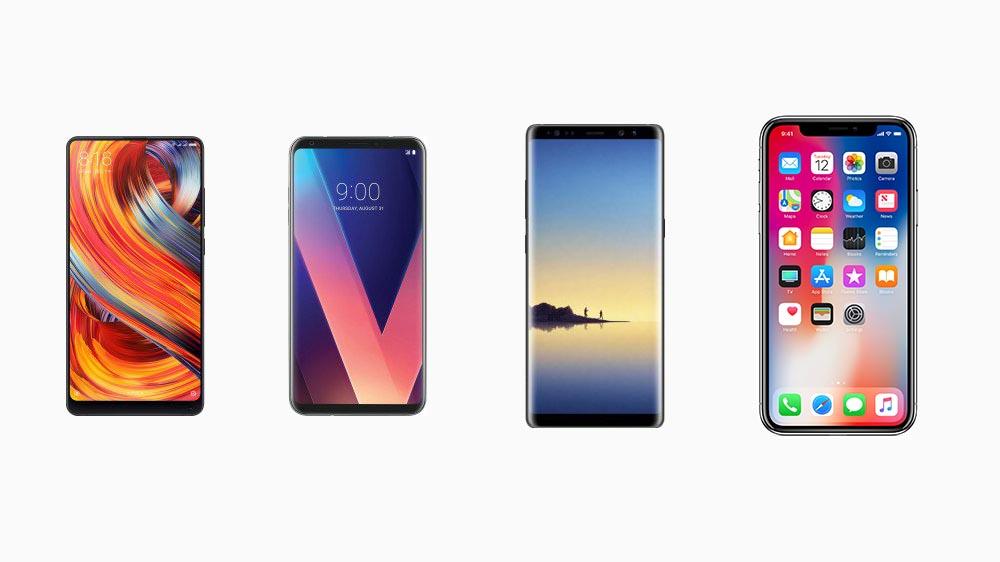 iPhone X, Galaxy Note 8, LG V30 e Mi MIX 2, specifiche a confronto