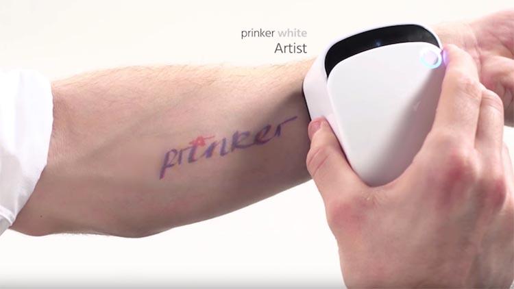 Prinker, la stampante portatile che crea tatuaggi temporanei