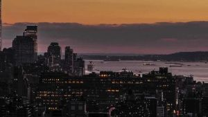 Tramonto a New York City