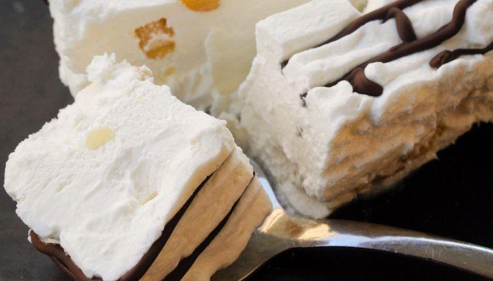 Mattonella di cioccolato ai pinoli
