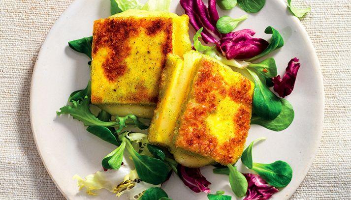 Rombi di formaggio e uova