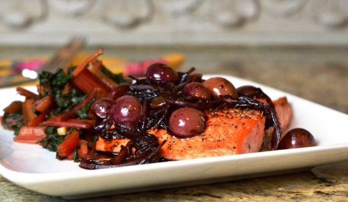 Filetti di salmone all'uva