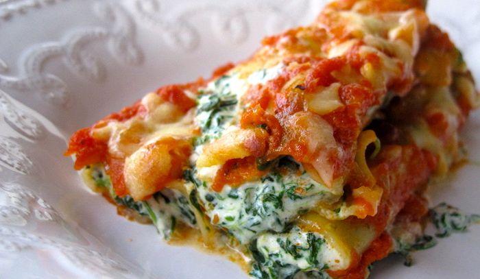 Cannelloni besciamella, ricotta e spinaci