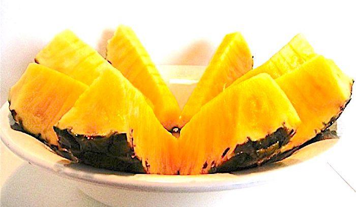 Ananas glassato al fondente