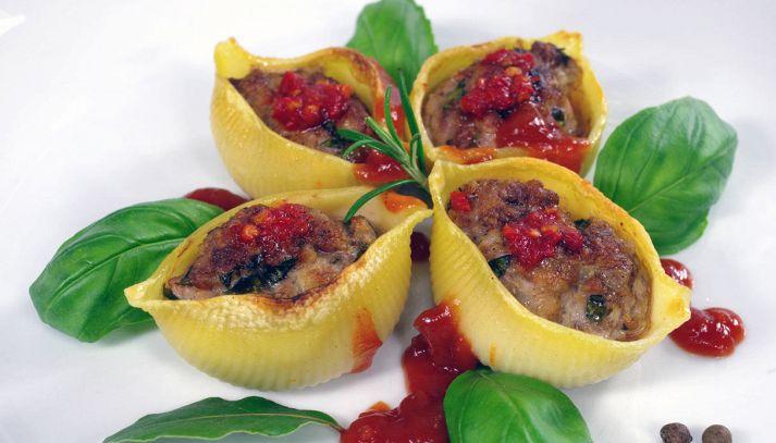 Lumaconi ripieni di melanzane