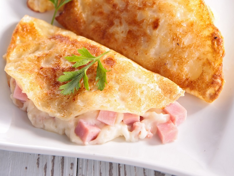Crepes al prosciutto e formaggio ricetta