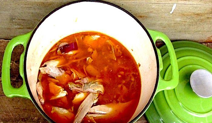 Zuppa di pollo allo zenzero