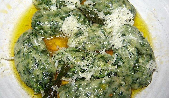 Gnocchi di ricotta e spinaci