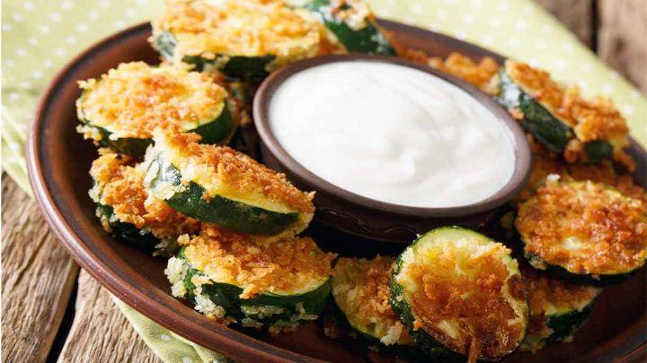 Zucchine al forno croccanti, quasi delle chips da snack