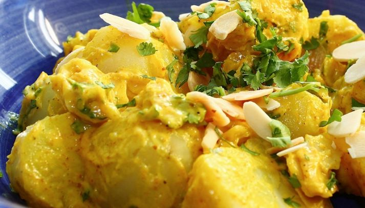 Insalata di patate al curry