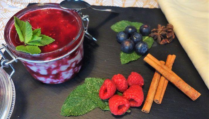 Budino Riso Gallo Aroma con latte di mandorla e frutti di bosco