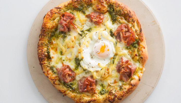 Pizzette uova e prosciutto