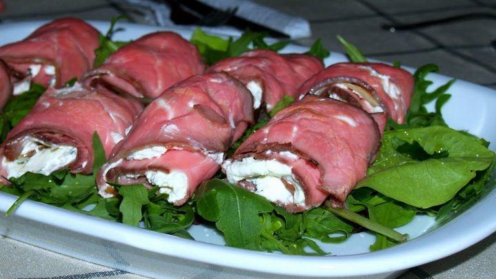 Involtini di roast beef, saporiti e semplici da fare