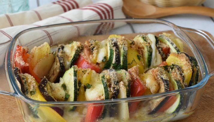 Teglia di verdure gratinate