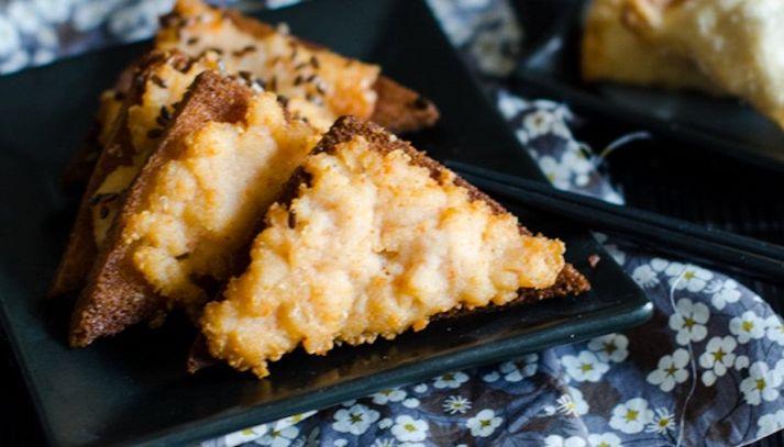 Toast fritti con crema di sogliola