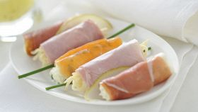 Involtini di prosciutto e insalata capricciosa