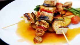Spiedini di pesce al forno