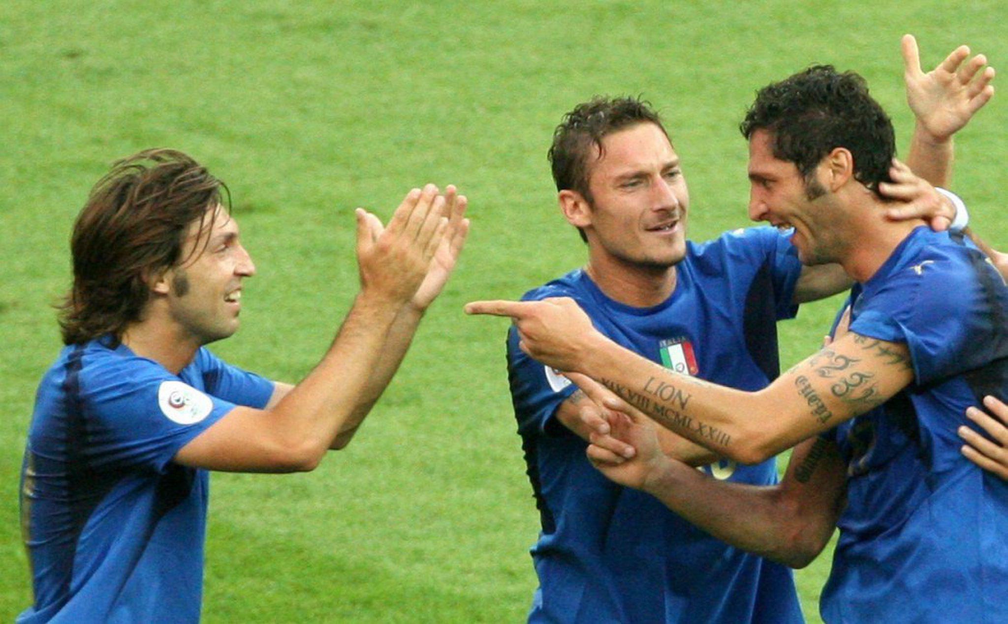 """Totti a Pirlo: """"Campione immenso"""""""