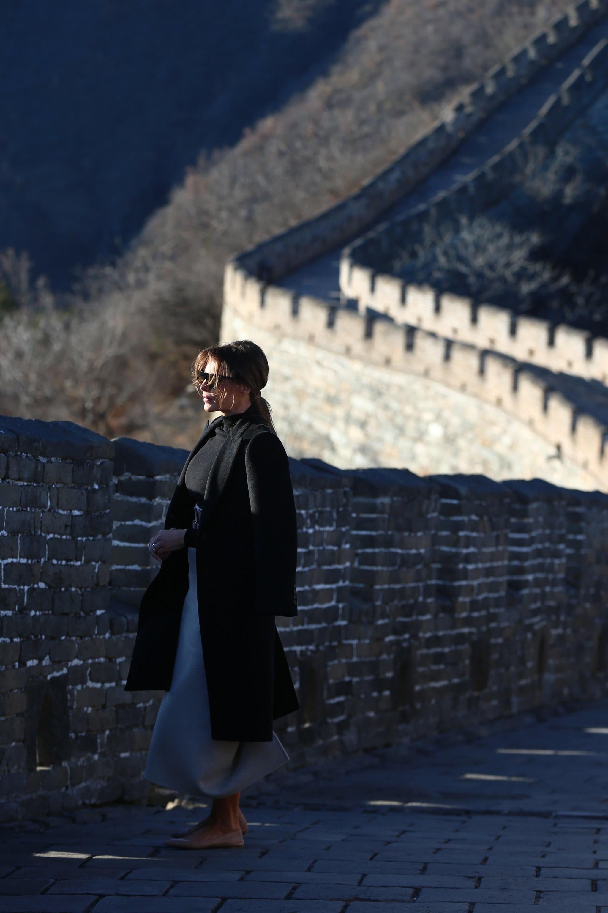 Melania Trump visita la Grande Muraglia