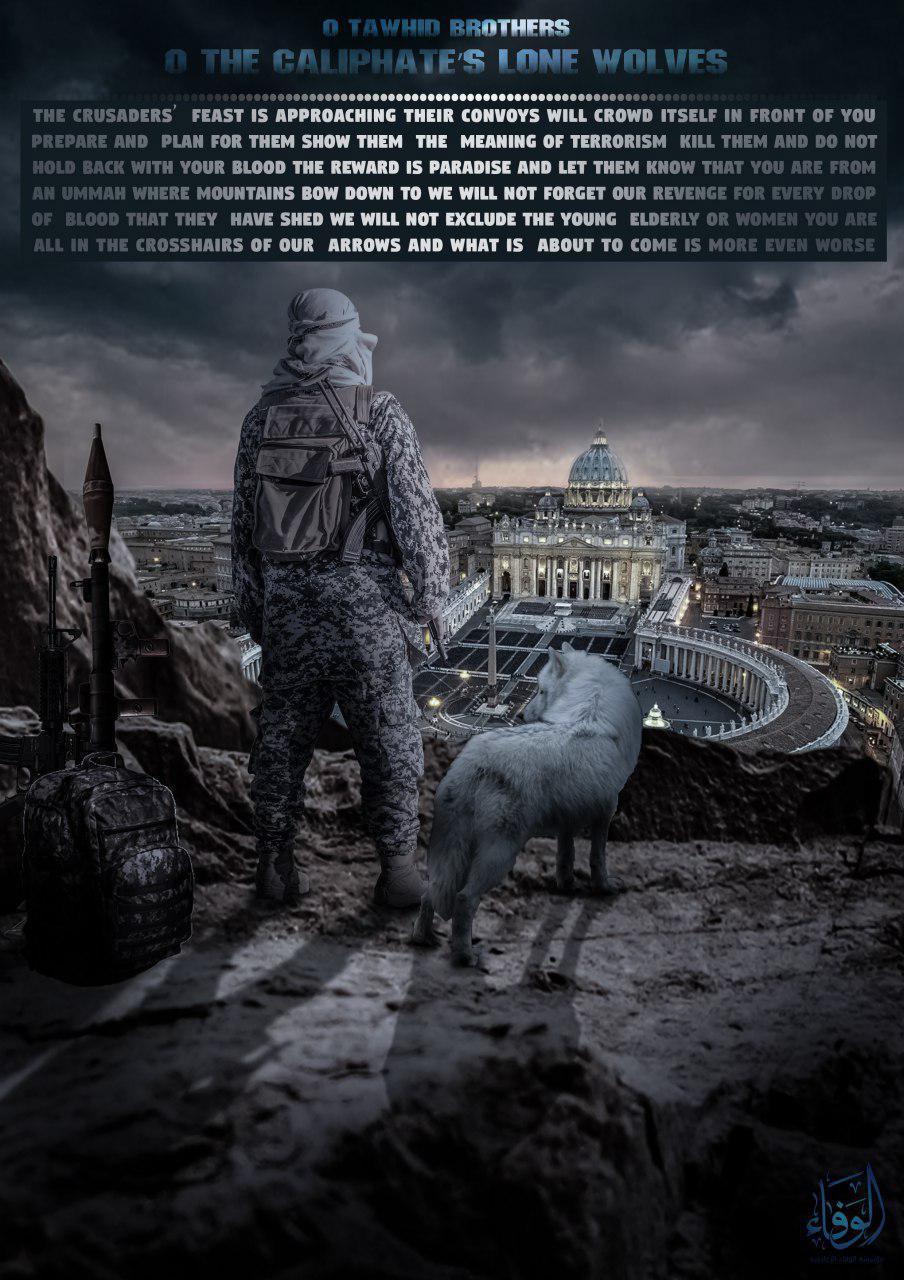 Isis:appello a lupi solitari contro Roma
