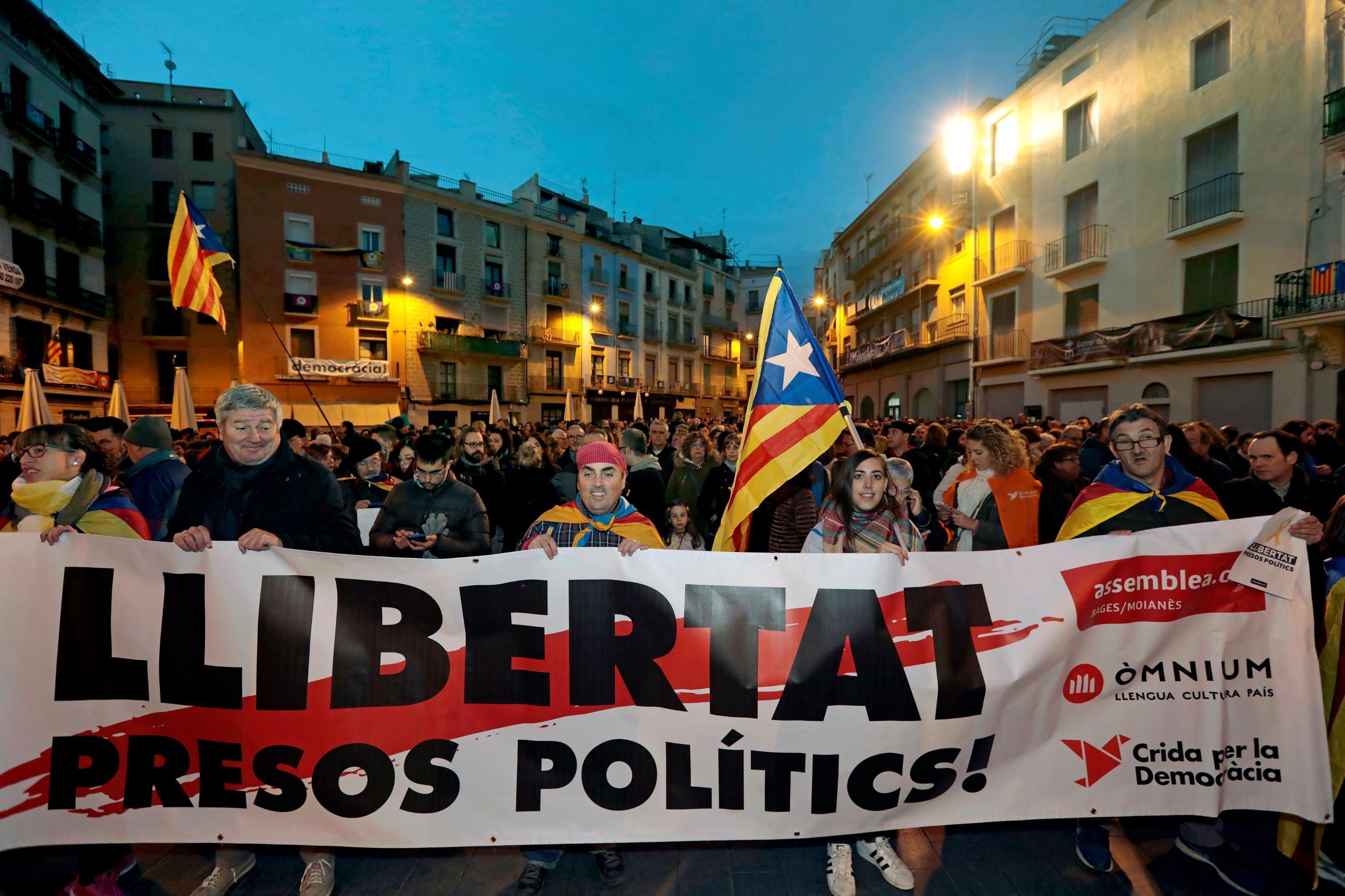 Catalogna:corteo per 'detenuti politici'