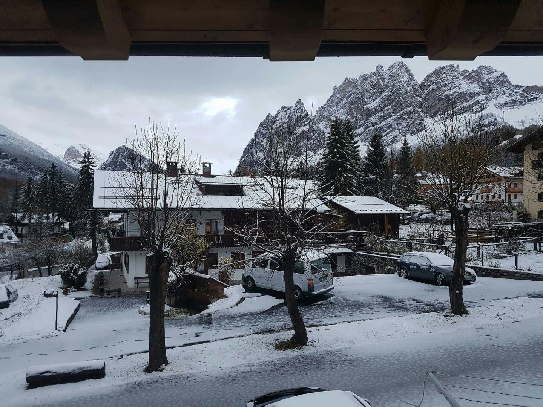A Cortina prima neve della stagione