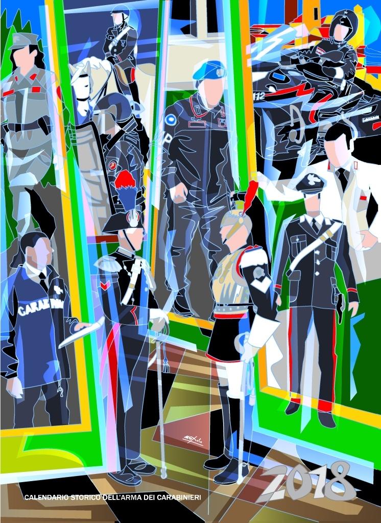 Carabinieri,Nespolo firma calendario '18