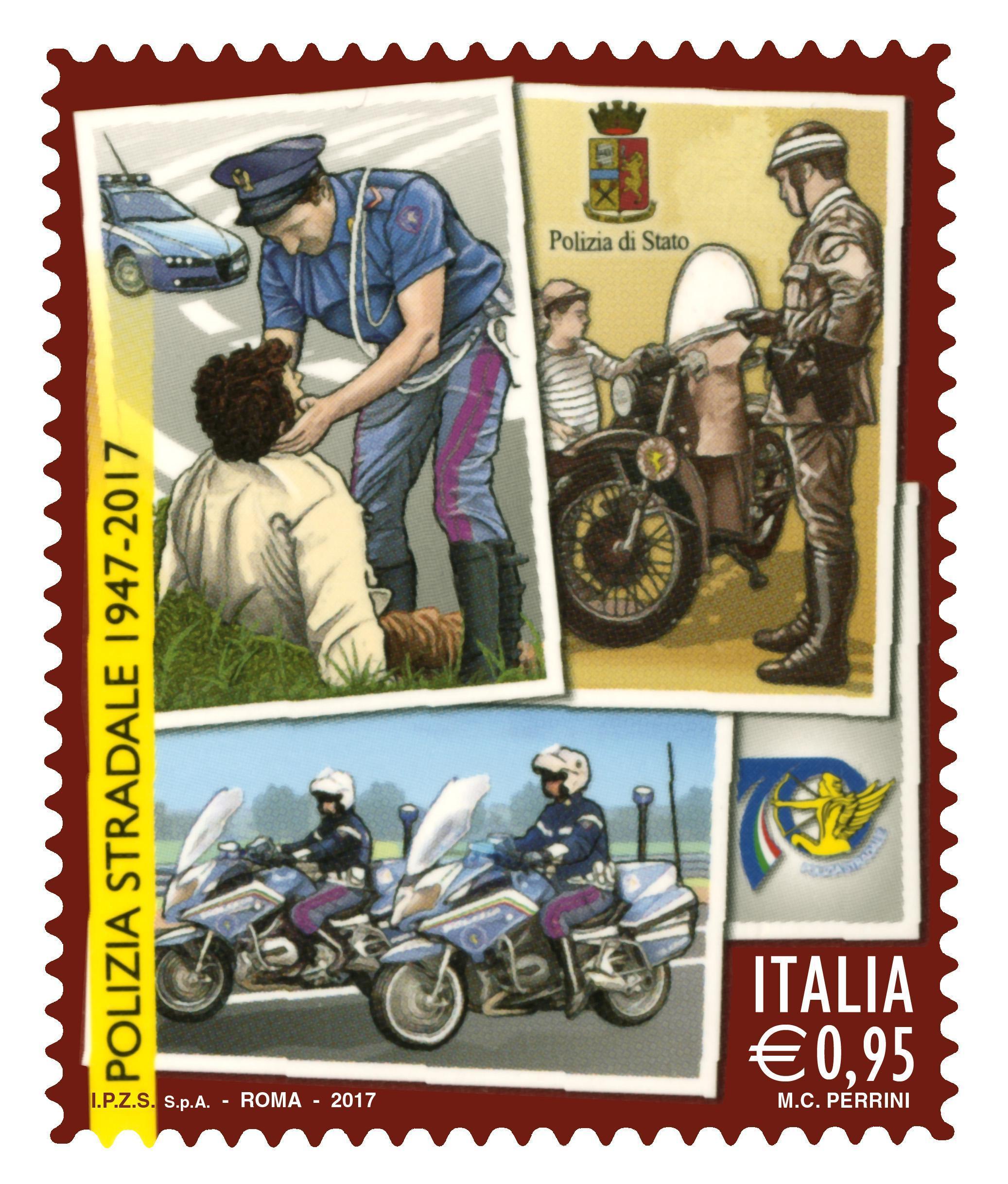 Polizia: francobollo per la 'stradale'