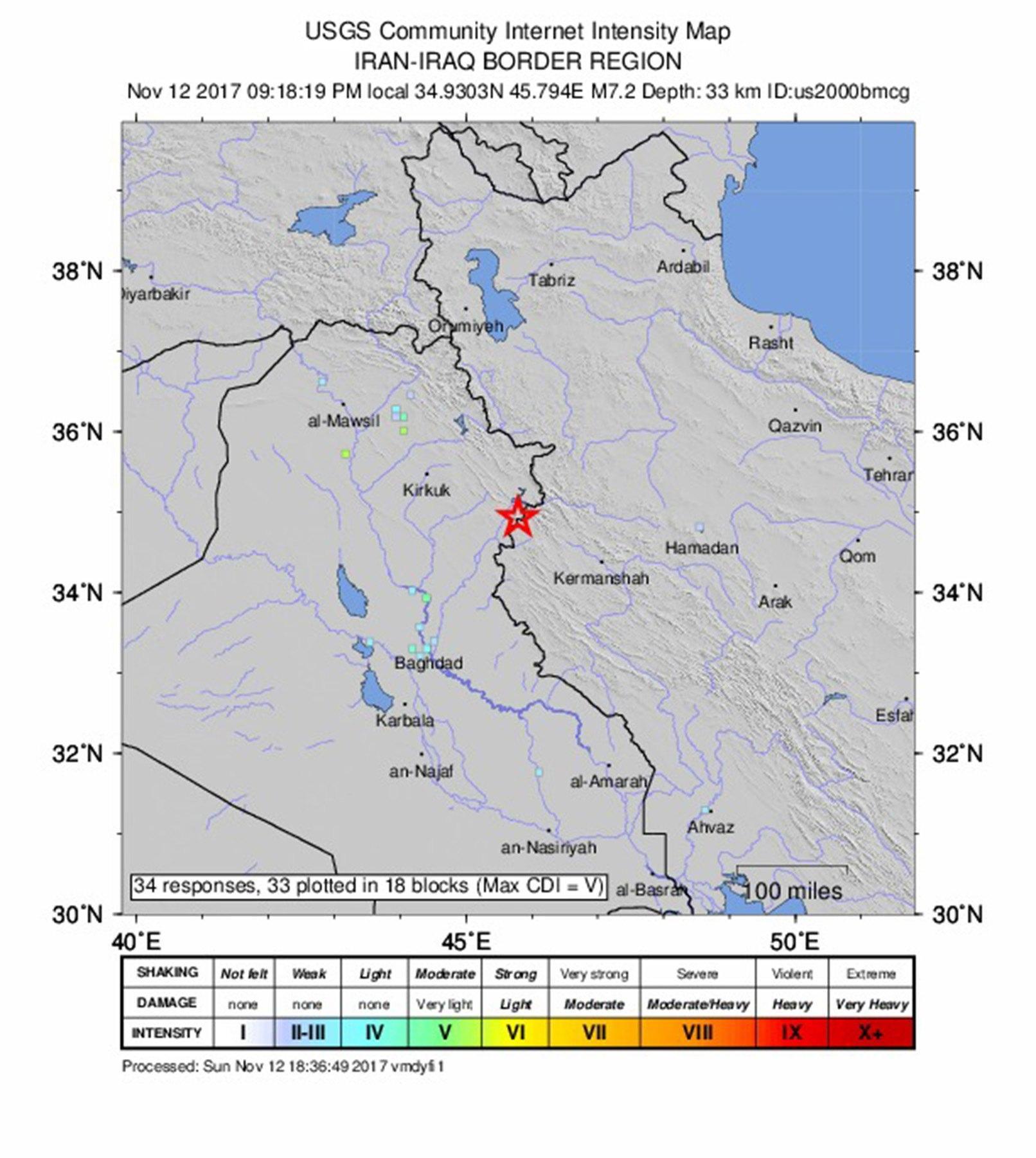 Almeno 6 morti per terremoto in Iran