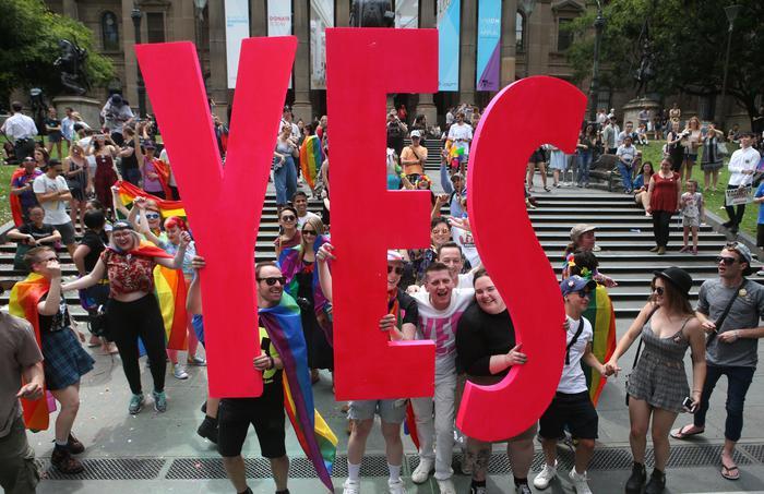 Australia: vince sì a matrimoni gay, ora la parola al parlamento