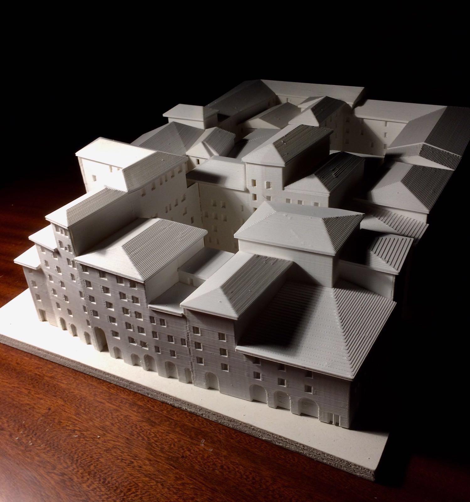 In modello 3D ghetto ebraico di Firenze