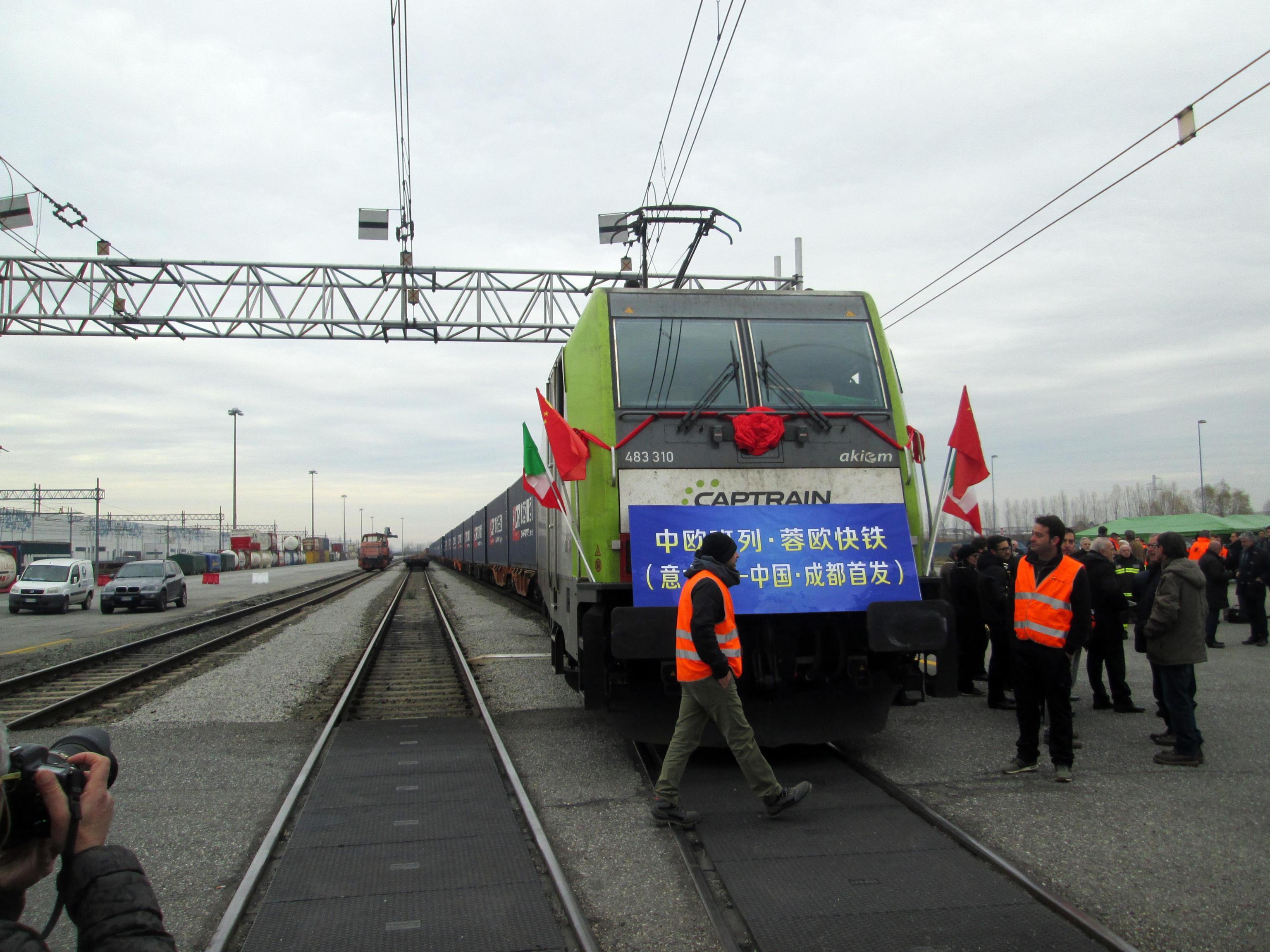 Parte da Mortara primo treno Italia-Cina
