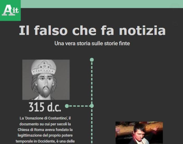 Cronologia delle Fake News,  da Costantino ai troll russi