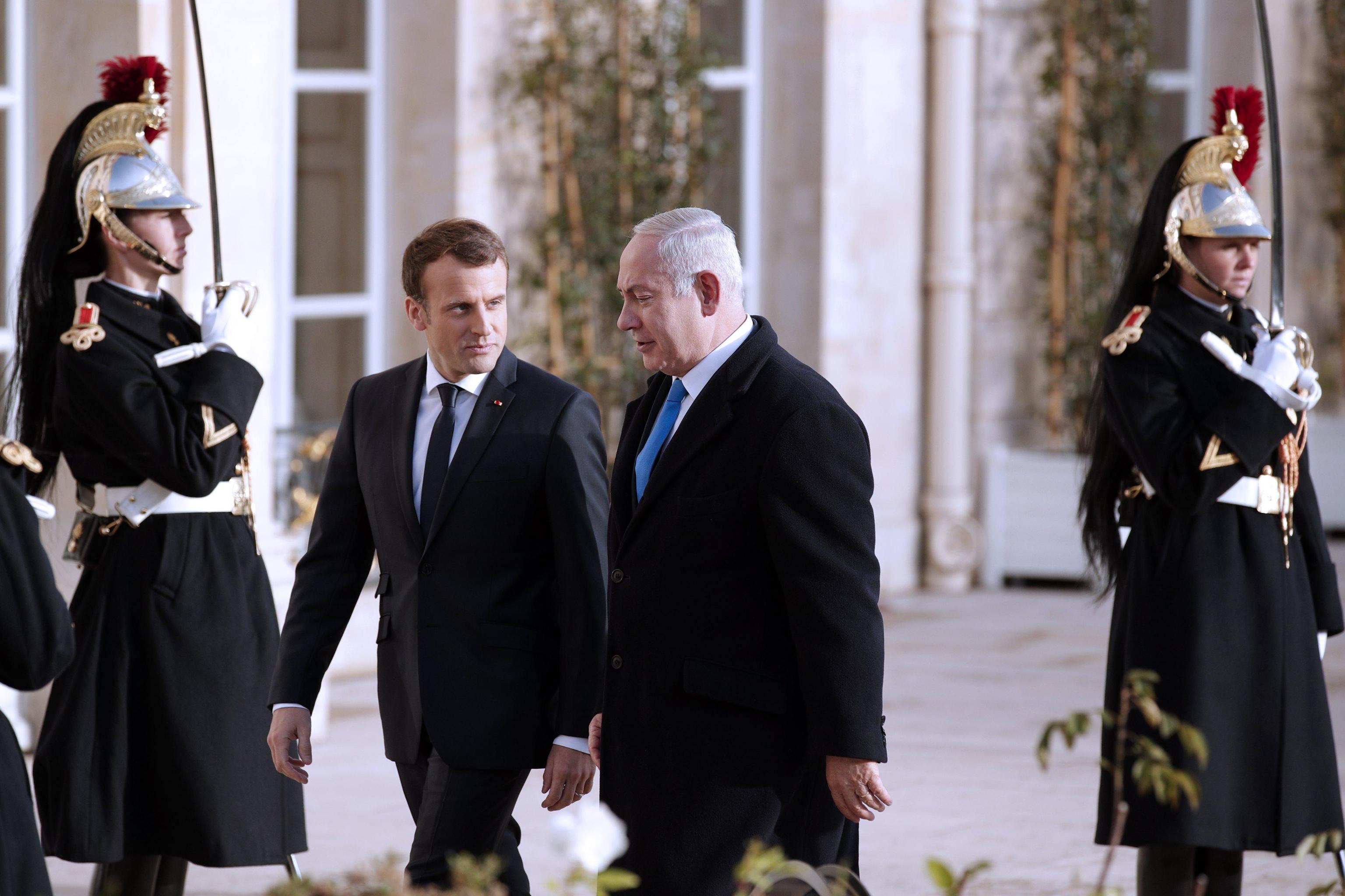 Netanyahu da Macron, Parigi boccia Trump