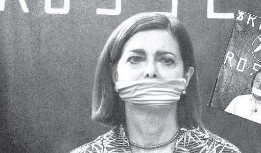 """Come Boldrini ha commentato quest'immagine in prima pagina del """"Tempo"""""""
