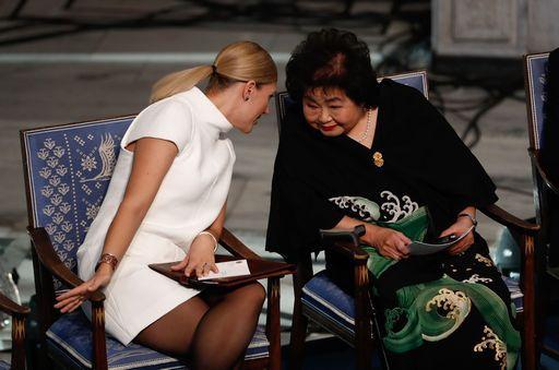 Setsuko sopravvissuta a Hiroshima oggi ha ritirato il Nobel per la Pace
