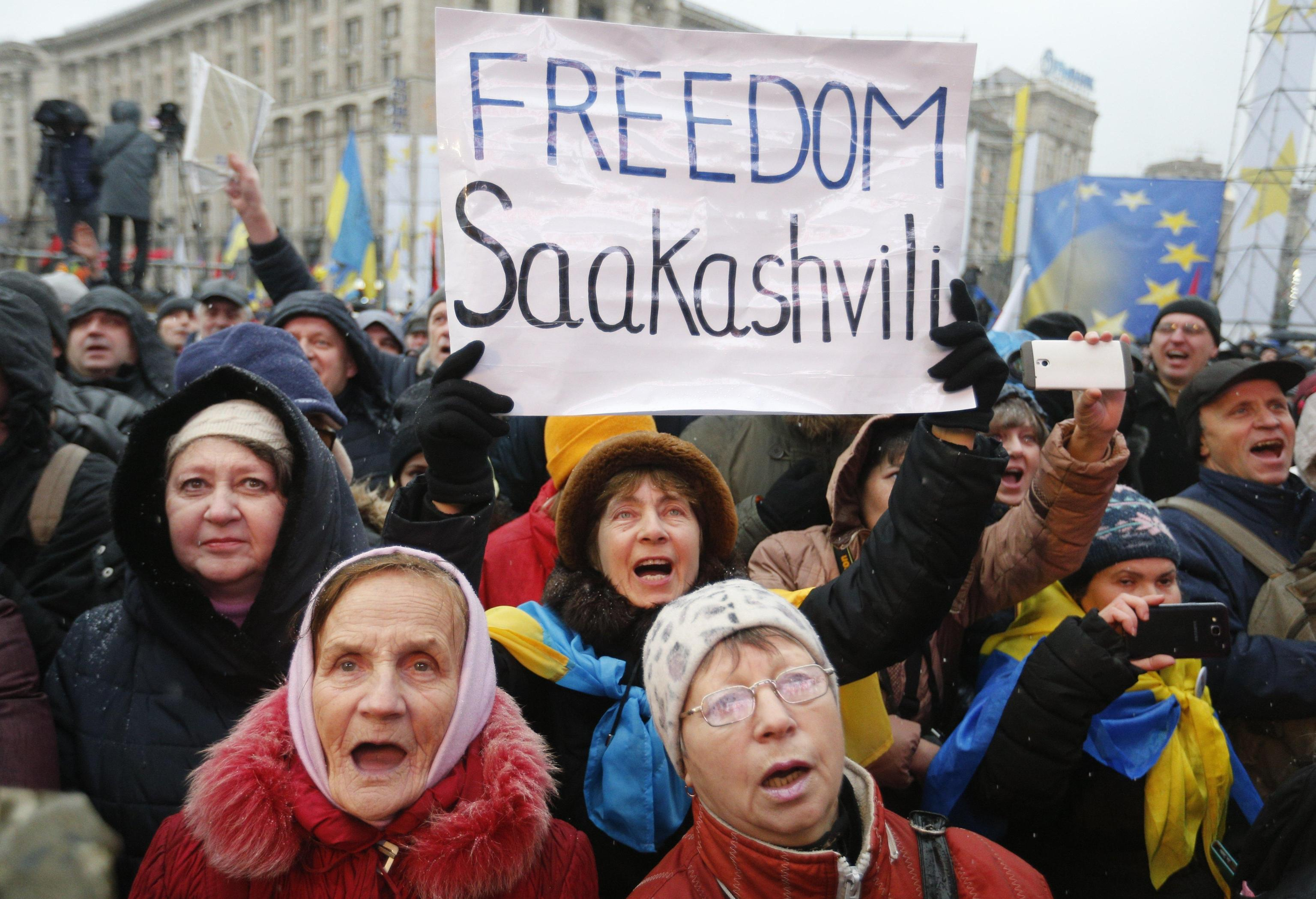 Ucraina: migliaia a Kiev per Saakashvili