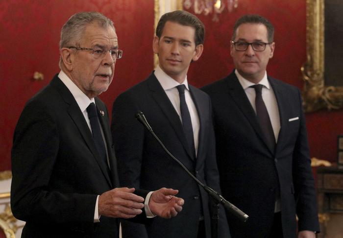 Governo Austria, all'ultradestra Esteri, Interni e Difesa