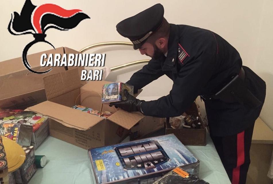 Sequestro 4 q fuochi pirotecnici,arresti