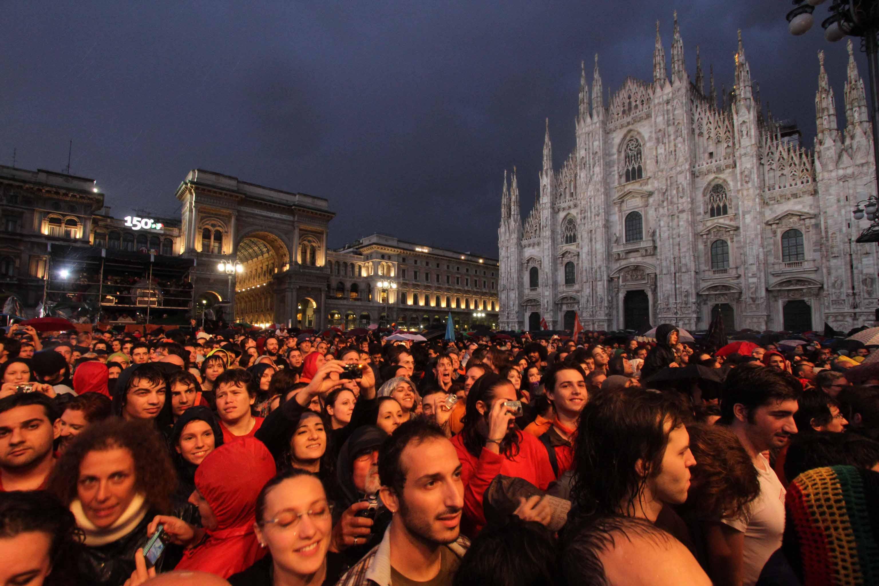 Massimo 20 mila in concerto piazza Duomo