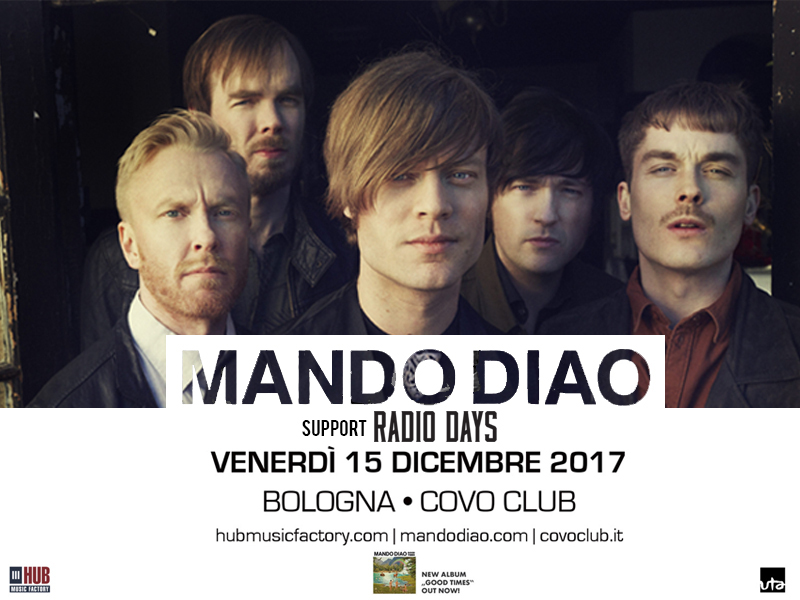 Musica: Mando Diao a Bologna il 15/12