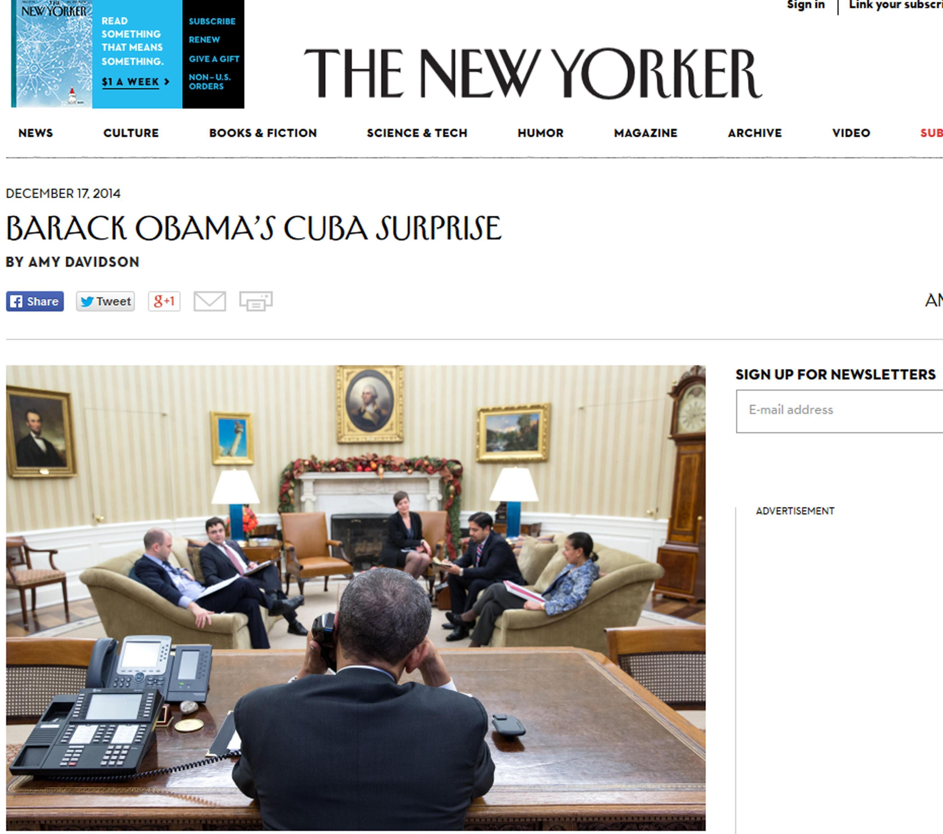 Molestie: New Yorker, via corrispondente
