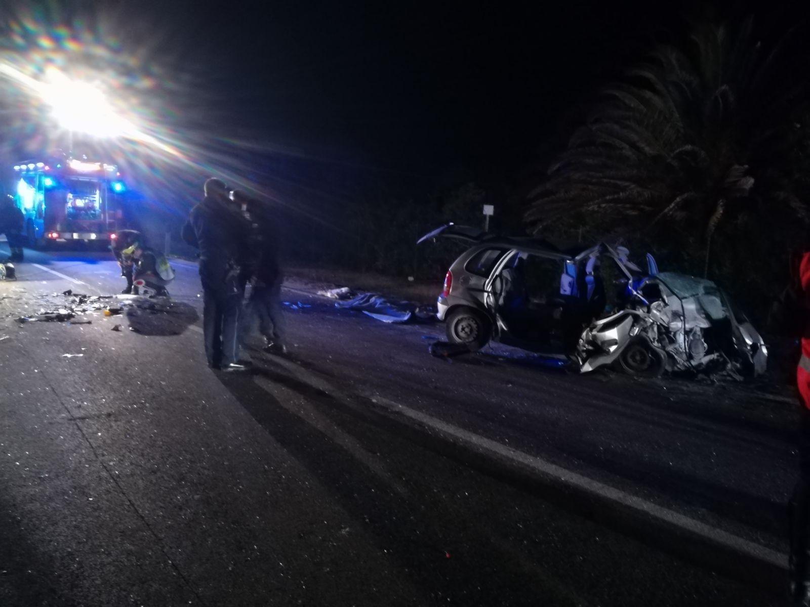 Alghero, tre morti in incidente stradale
